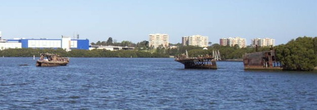 Shipwrecks at Homebush Bay