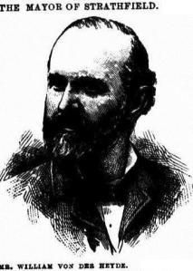 Wilheim Von der Heyde (sketch from Town & Country Journal)