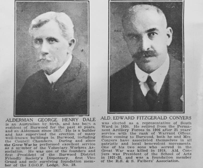 George Dale, 1924, Burwood Jubilee Souvenir, Burwood CouncilGeorge Dale, 1924, Burwood Jubilee Souvenir, Burwood Council