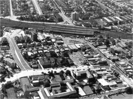 Strathfield Town Centre Aerial Map C1970s