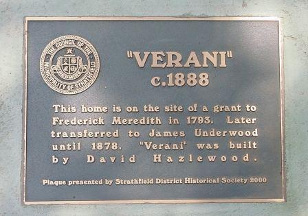 """""""Verani"""" 24 Homebush Road Strathfield"""