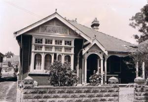 50 Churchill Avenue Strathfield. Photograph Strathfield Council 1986.