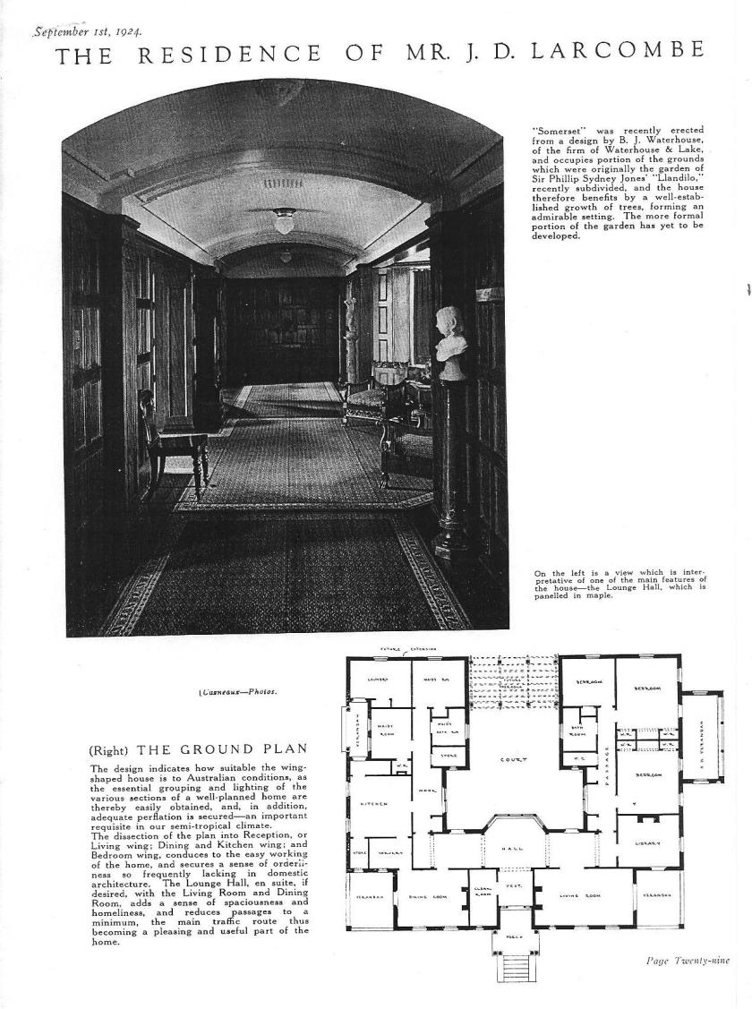 """Somerset"" as featured in The Home magazine 1924"