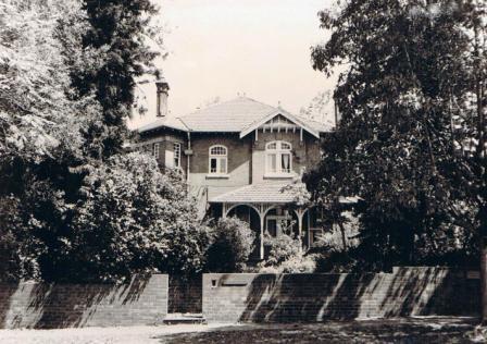 'Halsbury' 12-14 Albyn Rd Strathfield.  Photograph 1986 Strathfield Council.