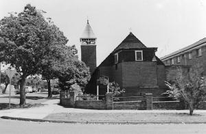 Former St Columba's Anglican Church. Photo 1986, Strathfield Council.