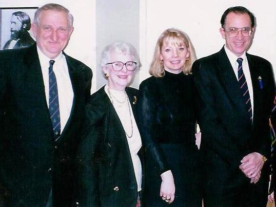 Photo: Members of Our Lady of Loreto Board Reg Jones (left) and Eve Dutton with Paul Zammit, Federal Member for Lowe (1995)