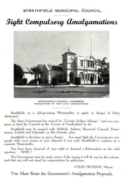 1947 Fight Compulsory Amalgamation