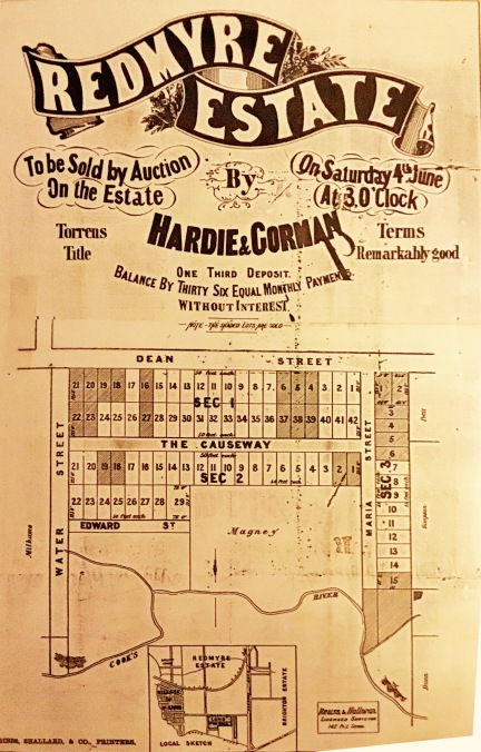 Redmyre Estate map c.1881.