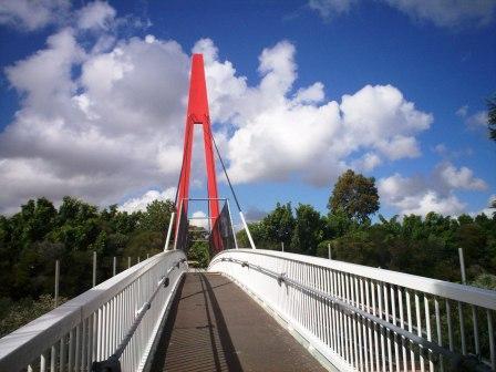 Pedestrian Bridge across M4 - Pomeroy Street Homebush. Photo Cathy Jones 2005
