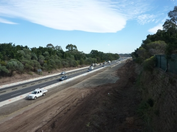 Widening of M4 at Homebush - 2016. Photo Cathy Jones