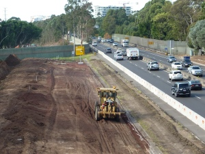 Widening of M4 at Homebush. Photo Cathy Jones 2016