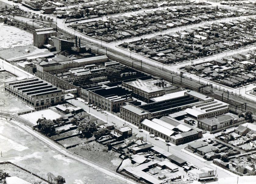 Arnotts Factory Homebush aerial photo