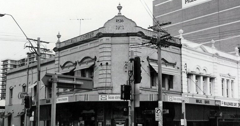 Keary's Corner facade. Photo from Strathfield Heritage Study 1986.