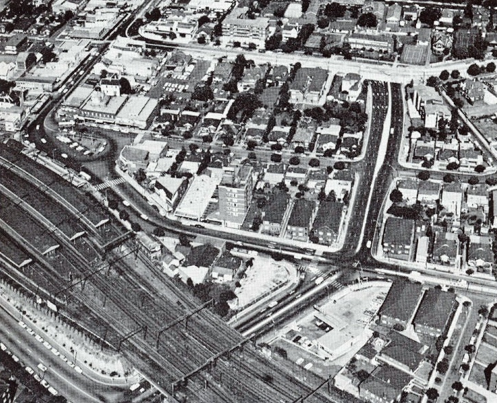 Strathfield Square Aerial Photo 1972