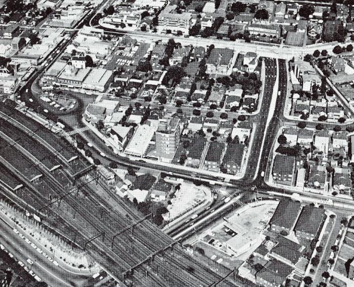 Strathfield Square Aerial Photo 1972