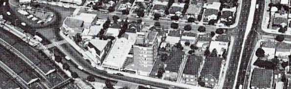 Strathfield Town Centre 1972 featuring Strathfield Motel