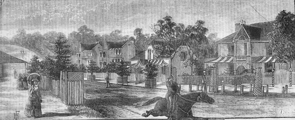 Redmyre Road illustration from Town and Country Journal 1888