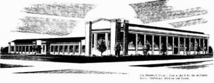 Illustration of architect design of Ford Factory 1936