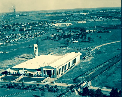 Ford Assembly Plant, Parramatta Road, Homebush 1937. RAHS / Adastra Aerial Photography Collection. No Known copyright restrictions.