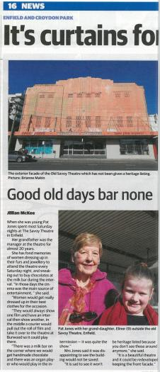 Mum and Elinor - Enfield Savoy - Inner West Courier - July 2017