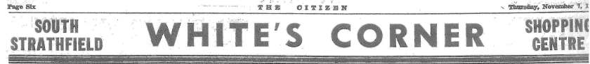 White's Corner - The Citizen November 7 1957