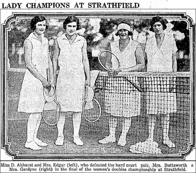 1929 'LADY CHAMPIONS AT STRATHFIELD', Referee (Sydney, NSW : 1886 - 1939), 30 October, p. 16. , viewed 29 Jan 2018, http://nla.gov.au/nla.news-article136211933