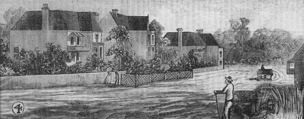 The Boulevarde 1888 illustration from Australian Town & Country Journal