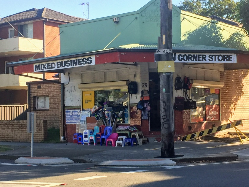 Homebush West Corner Store. Photo Cathy Jones 2018.