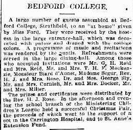 Bedford College Daily Telegraph 20 December 1902 p13