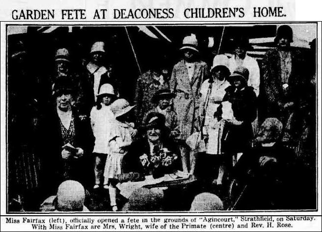 Deaconess Childrens Home - Agincourt - SMH 21 October 1929 page 14