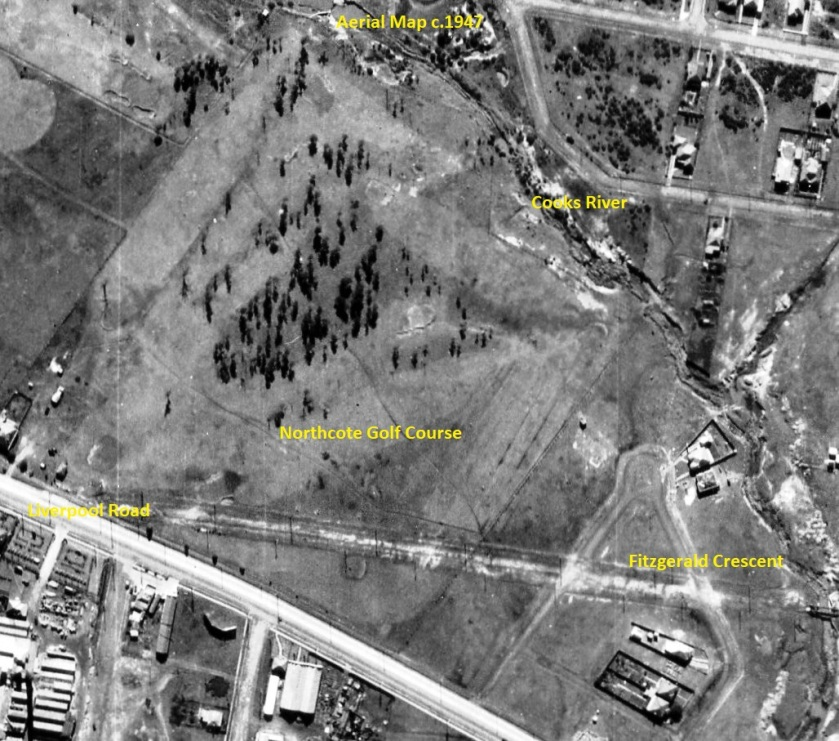 Aerial Map - c.1947 - Northcote Golf Course