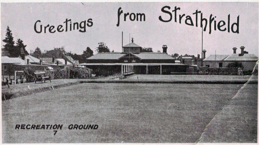 Strathfield Recreation Club Postcard. 1910s