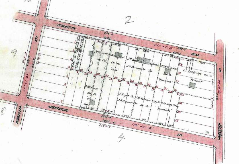Section 3 Village of Homebush Estate showing 'Viwa' Burlington Road
