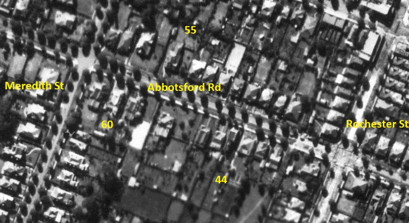 Aerial Strathfield - Abbotsford Road - Rocester to Meredith Street c.1947 - with notes.jpg