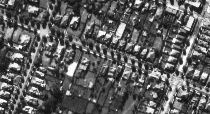 Aerial Strathfield - Abbotsford Road - Rocester to Meredith Street c.1947.jpg