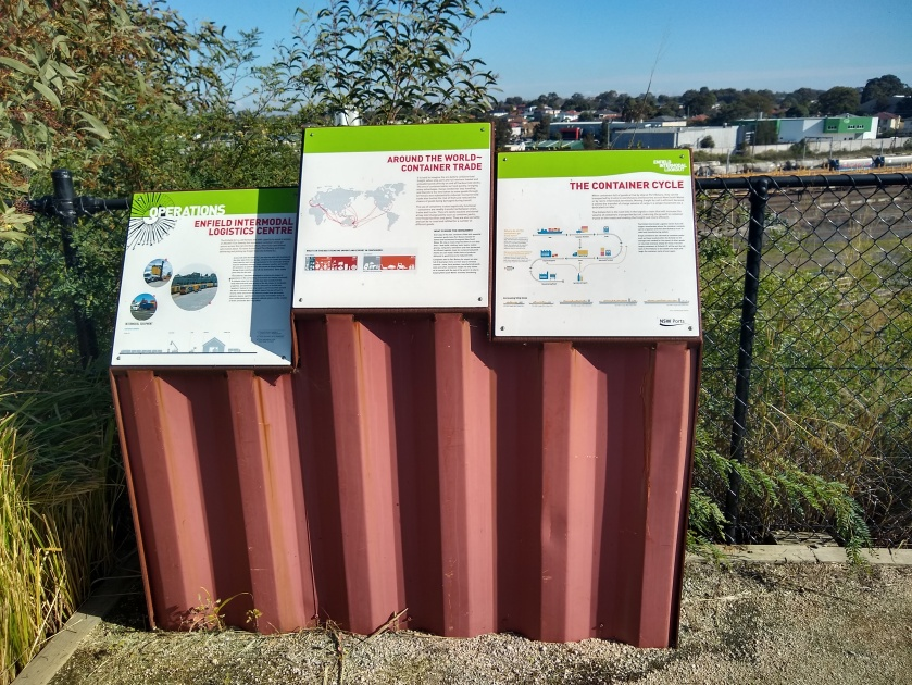 Mount Enfield Lookout information boards. Photo Cathy Jones 2019