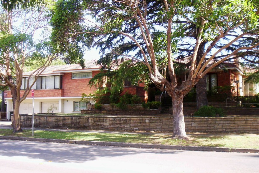 Former 20 Albyn Rd Strathfield.  Photo: 2010 (Cathy Jones)