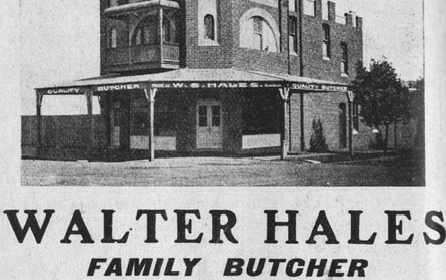 Walter Hales Butcher 1 Rochester St Homebush c.1915