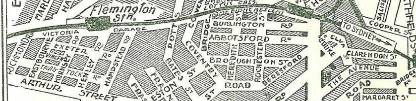 Homebush Streets Directory 1926