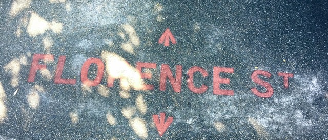 Florence Street footpath sign