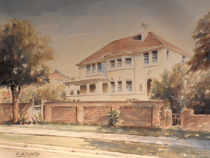 67 The Boulevarde Strathfield - 1986 painting by Ted de Sauty