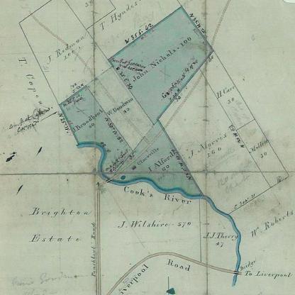 1831 Cadestral map 'Clareville'