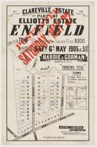 Clareville Estate advertisement 1905