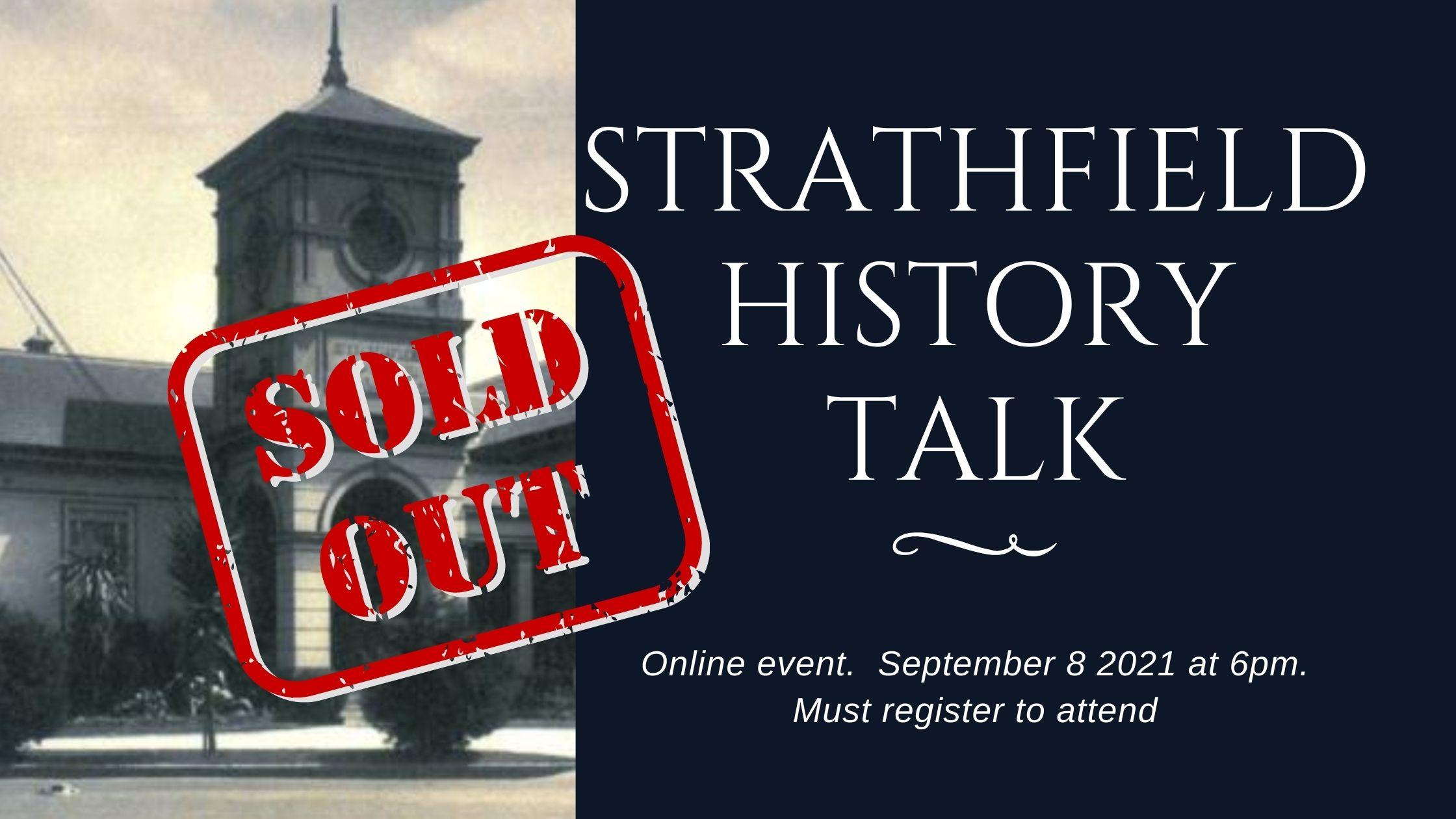 Online Talk on Strathfield History & Q&A