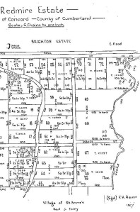 Part of map of Redmire Estate showing Water Street
