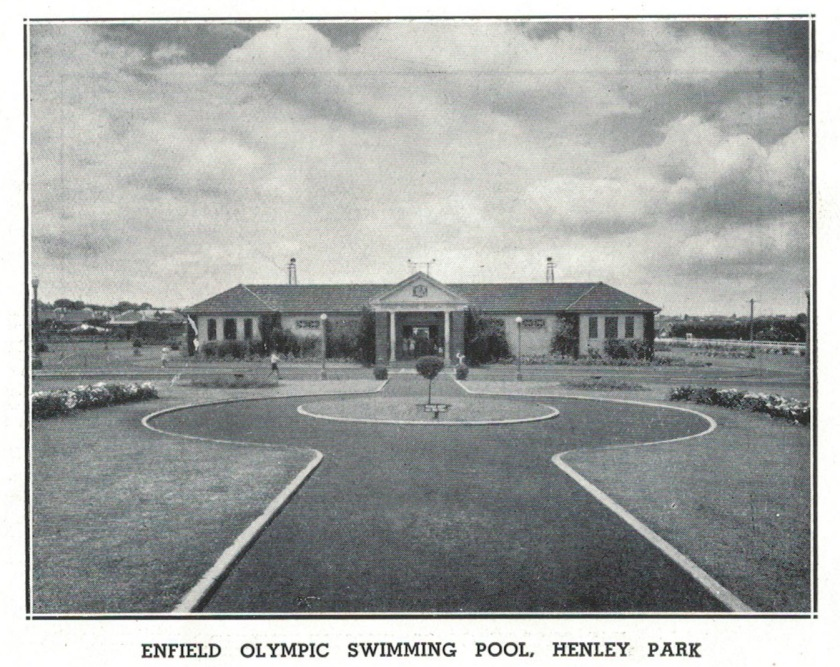 Enfield Olympic Pool, featured in Enfield Council Annual Report 1936