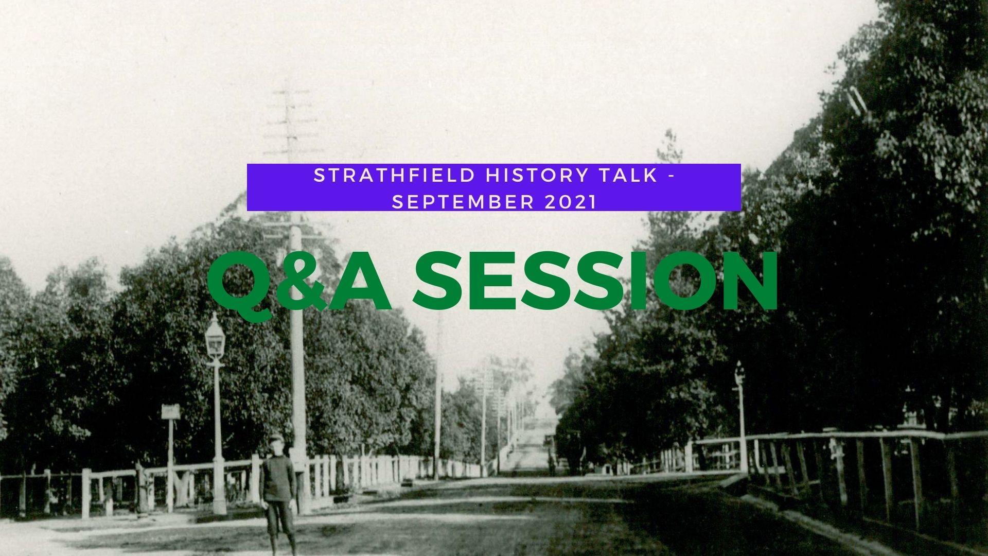 Q&A session – Strathfield History Talk